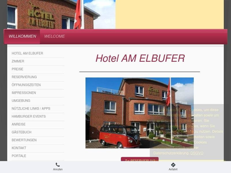Screenshot von http://www.hotel-am-elbufer.de/